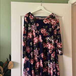 Beautiful 1/4 sleeve brushed DTY dress